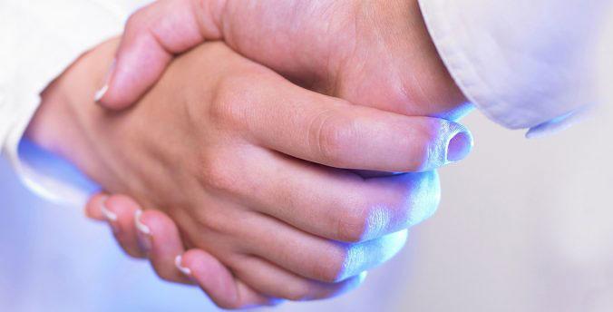 Hand schütteln Ärzte